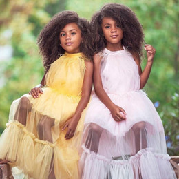 Girl yellow paGeant dresses size 12 online shopping - Girls Pageant Dresses New Toddler Kids Ball Gown Glitz Flower Girl Dress Weddings Tassel Ostrich Feather Size