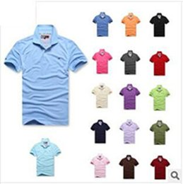 t shirt crocodile 2019 - High Quality brand Men's T-Shirts big small horse Crocodile Embroidery LOGO Big Size S-6XL Short Sleeve Summer Casu