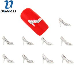 $enCountryForm.capitalKeyWord Australia - harm for nail 10Pcs Lot Silver Alloy Metal High-heeled Shoes Rhinestones Studs Supplies For Charms Nails 3D Strass Nail Art Decorations T...