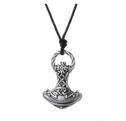 $enCountryForm.capitalKeyWord UK - GX008 New Vintage Pagan Charms Amulet Viking Hammer Metal Religious Pendant European Style Necklaces For Man