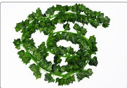 $enCountryForm.capitalKeyWord UK - 2 Meter Long Artificial Leaf Green Leaves Artificial Boston ivy leaf vine Evergreen Rattan Fake Green Vine Artificial Flower Free Shipping