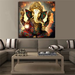 $enCountryForm.capitalKeyWord NZ - Ganpati Portrait Poster Canvas Painting Wall Art HD Print Modern Picture For Living Room Home Decor