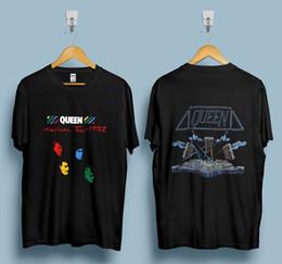 Rock touR t shiRts online shopping - Vintage Queen Tshirt Hot Space Tour Glam Rock Band Freddie Mercury Reprint Hot Summer Men s T Shirt Fashion
