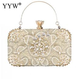 $enCountryForm.capitalKeyWord Australia - Diamond Clutches Pearls Beaded Day Clutch Purses And Handbags Rhinestone Evening Bags Wallet Evening Wedding Bag sac a dos