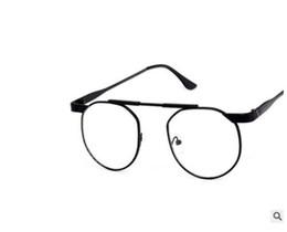 Chinese  2019 New Korean Version Of Metal Retro Round Men's And Women's Eyeglasses Frame, Literary Style Ultra-Light Flat Wear Myopia Glasses manufacturers