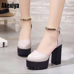 $enCountryForm.capitalKeyWord NZ - Dress Shoes Spring Thick Super High Heels Women Flock Pumps Summer Ladies Party Ankle Wrap Platform Light Gray Black Red D529