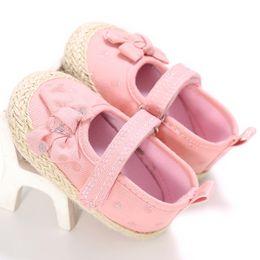 $enCountryForm.capitalKeyWord Australia - Newborn Girls PrincessFirst Walkers Bowknot Soft Soled Infant Toddler Footwear Prewalkers Kids Shoe For Birthday Baby Party