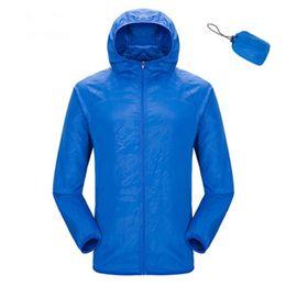 venda por atacado Homens Mulheres Unisex pele protecção roupas de proteção solar camping praia revestimento do verão modelos azul laranja quick-secam jaquetas finas