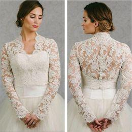 b4aced2d7ec BHLDN 2019 Wedding Wrap Lace Jacket White Ivory Appliqued Cheap Long Sleeve Bridal  Jacket Bolero Shrug Plus Size Wedding Dress Wraps