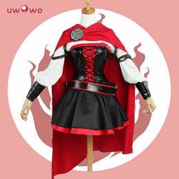 Wholesale battle dress for sale - Group buy Ruby Rose Cosplay RWBY Season Red Dress Cloak Battle Uniform Costume