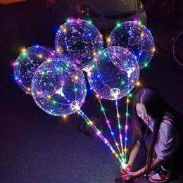 $enCountryForm.capitalKeyWord Australia - 10sets Hand-held Led Flash Balloons Transparent Wave Glowing Bobo Orbs Air Balloons Lights Wedding Birthday Party Decorations Y19061704