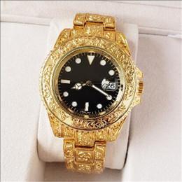 $enCountryForm.capitalKeyWord NZ - manual carving men luxury watch 42mm top brand mens watches quartz movement men's sports wristwatches gold relojes