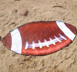 Flag towels online shopping - Irregular Beach Towel American Flag Towels Football Blanket cm Summer Animal Fruit Shape Towel Scarf Thick Yoga Mat GGA1992