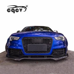 Lips Spoiler Australia - CQCV style body kit for Audi A5 carbon fiber material front lip rear lip side skirts wide fender spoiler auto accessories