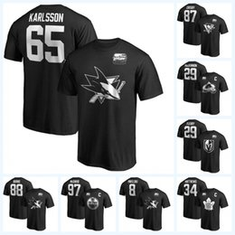 Boat cap online shopping - 65 Erik Karlsson All Star Game T shirts Marc Andre Fleury Sidney Crosby Nathan MacKinnon Brent Burns McDavid Jersey