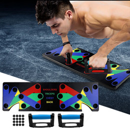 Wholesale 9 in 1 Push Up Rack Training Board ABS abdominal Muscle Trainer Sports Home Fitness Equipment for body Building Workout Exercise