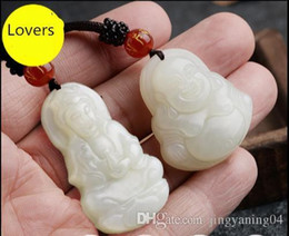 $enCountryForm.capitalKeyWord Australia - Xinjiang Hetian jade jade jade Guanyin Guanyin male and female couple smiling Buddha Pendant Necklace