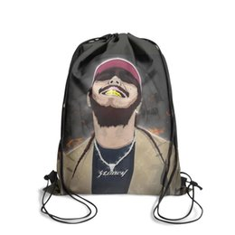 Post Cartoons Australia - Drawstring Sports Backpack Post malone American rapper personalized daily athletic Pull String Backpack
