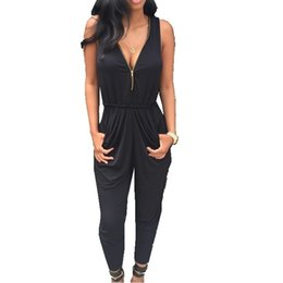 Women Jumpsuit Romper Playsuit UK - Hot Selling Women Ladies Clubwear V Neck Playsuit Bodycon Party Jumpsuit&romper Trousers New drop shipping good quality