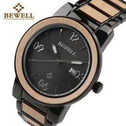 451629548f747f BEWELL Men s Wooden Quartz Wrist Watches Male Waterproof Clock Boy Alloy  And Wood Luxury Brand Watch As Gift For Man 1050A