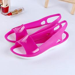 323321458 Women Sandals Summer Beach Sandals New Candy Color Women Shoes Peep Toe  Stappy Beach Flats Rainbow Jelly Shoes Woman Flats