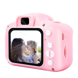 Wholesale 2019 Hot Xmas for Kids Camera Children Mini Digital Camera Cute Cartoon Cam 13MP 8MP SLR Camera Toys for Birthday Gift 2 Inch Screen