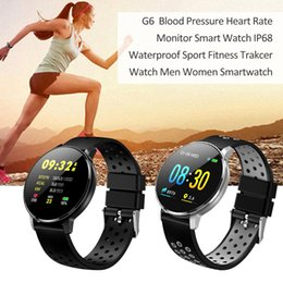 g6 smart watch NZ - G6 Bluetooth Smart Watch HD IPS Color Screen Smart Wristband Heart Rate Monitor Waterproof Smartwatch For Android