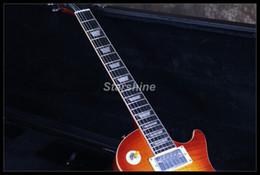 ebony flame 2019 - Starshine Electric Guitar CC-GLP70 Ebony ,1Piece Wood Body&Neck Alnico Pickups ABR Bridge Cream Binding Metal Knobs Flam