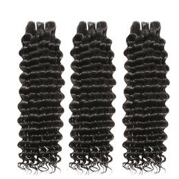 long 12 inch brazilian hair NZ - 8A Brazilian Remy Deep Wave 8-30 Inch 3 Bundles Hair Weave 100% Human Hair Extensions Long Curly Double Drawn Natural Color