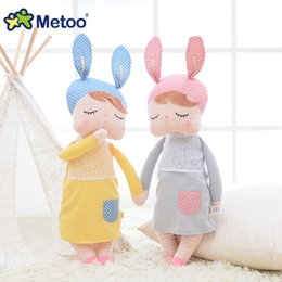 $enCountryForm.capitalKeyWord Australia - 13 Inch Plush Stuffed Animal Cartoon Kids Toys for Girls Children Baby Birthday Christmas Gift Kawaii Angela Rabbit Metoo Doll
