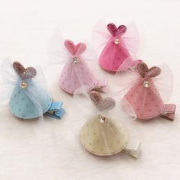 Purple Hairpins NZ - Boutique 10pcs Fashion Cute Glitter Heart Hat Hairpins Solid Gemstone Lace Bow Cap Hair Clips Princess Headware Hair Accessories