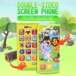 Phone Types Australia - Infant baby toys double-sided screen mobile phone intelligent early education puzzle music phone learning machine English 2604A