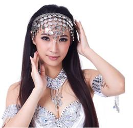 $enCountryForm.capitalKeyWord UK - 10pcs lot free shipping Belly Dance Head costume Chains coin headband Imitate Diamond Decoration Dancing Jewelry hair accessories
