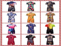 $enCountryForm.capitalKeyWord Australia - 5pcs  lot Plus size 3XL 3D Galaxy Anime animal Tiger Print men dress Dress Runaway Men's Casual Shirts Onesies Pyjamas Jumpsuits