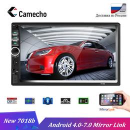 "Discount bluetooth car cameras - Camecho Autoradio 2 Din 7"" Car Radio Audio Stereo Touch Screen Car Multimedia player Auto MP5 Player Bluetooth TF U"