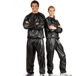 Sauna Suits NZ - Slimmer Slim Exercise Workout Sweat Sauna Suit Hot Sale Man Woman Unisex Fitness Loss Weight Sauna Suit Set