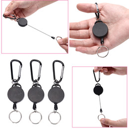 plastic yoyo lights NZ - Rainbery Resilience Steel Wire Rope Retractable Alarm Key Ring Elastic Keychain Recoil Sporty Anti Lost Yoyo Ski Pass ID Card