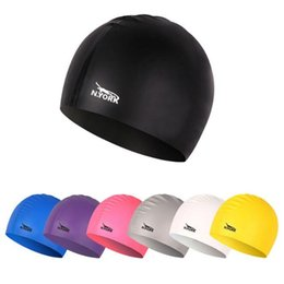 Swimming Pack Australia - Silicone swimming cap unisex waterproof swimming cap men and women multicolor swimming cap solid color hat a pack of ten