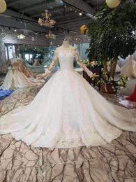 $enCountryForm.capitalKeyWord Australia - Custom made Robe de mariage Ball Gown Wedding Dress 2019 Long Sleeves Skin Tulle Wedding Gowns Luxury Beaded Bride Dresses