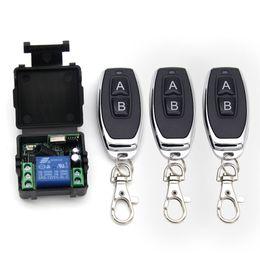 $enCountryForm.capitalKeyWord NZ - 433Mhz Universal Wireless Remote Control Switch DC 12V 1CH relay Receiver Module and 3pcs RF Transmitter 433 Mhz Remote Controls