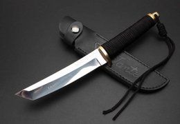 Samurai knifeS online shopping - Samurai ninja inch straight fixed blade knife tactical self defense edc collection hunting knives xmas gift a1474