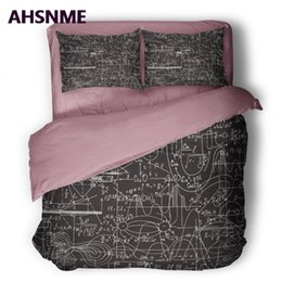 Wholesale geek king online – design AHSNME School College GEEK Quilt cover Set Higher Mathematical formula Function relationship Bedding Set Customized King Bed