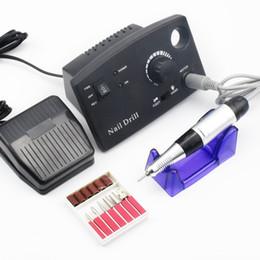 Vente en gros 30000RPM Pro Électrique Perceuse À Ongles Machine Électrique Manucure Machine Perceuses Accessoire Kit Pédicure Nail Drill File Bit Ongles Outils