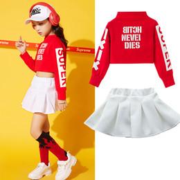 Jazz Dance Suit Australia - Unisex Jazz Dance Clothing Street Dance Suit Kids Autumn Korean Version Practice Set Children Hip-Hop Clothes DWY1175
