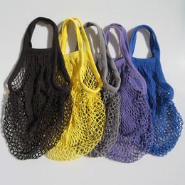 Shop bag fruit online shopping - Reusable String Shopping Bag Fruit Vegetables Grocery Mesh Net Woven Shoulder Bag Hand Totes Home Storage Bag TTA1339