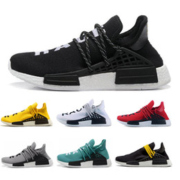 choosing running shoes UK - Running Shoes Nmd Human Race Men Women Authentic Sneakers Sports Top Quality Black Red Yellow Green 7 Color Choose Free Shipping