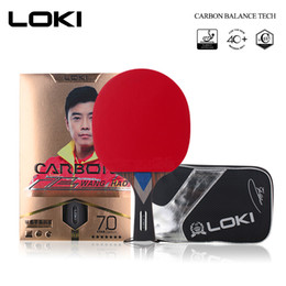 paddle tennis UK - LOKI 7 Star Professional Table Tennis Racket Carbon Tube Tech PingPong Bat Competition Ping Pong Paddle for Fast Attack and Arc T200410