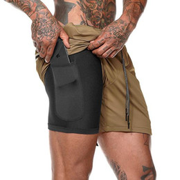 $enCountryForm.capitalKeyWord Australia - Running Sport Shorts Mens 2 in 1 Short Sweatpants Gym Fitness Training Quick dry Shorts Beach Short Pants Male Crossfit Clothing