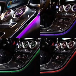 Lights for interior car online shopping - Car interior colors LED ambient light door panel central control console light for Mercedes Benz C Class W205 GLC W253 C180 C200