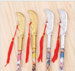 Toy Swords Wholesale NZ - wholesale gel pens free shippingWang Zhenghong Creative Sword, Guan Yu, Wearing Knife, Imitating Gun Toy Neutral Pen36